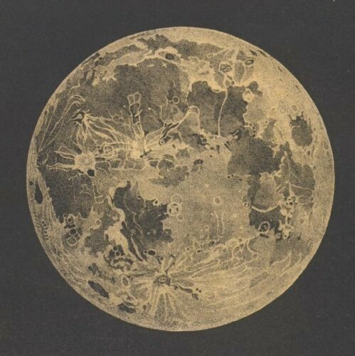 """12"""" x 12"""" Vintage Grainy Representation of our Moon Poster Picture Universe"""