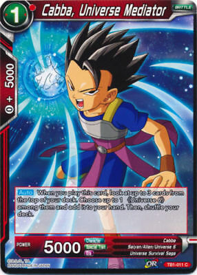 Universe 9 Striker Comfrey TB1-040 x4 4x Cards Dragon Ball Super CCG Mint