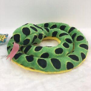 "Wild Republic 54/"" Plush Anaconda Snake,Plush Toy for kids Lime/&Yellow/&Blk color"