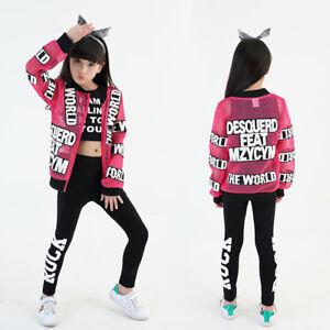 9a0f5c33a Girls Children Modern Jazz Hip-Hop Dancewear Kids Dance Show ...