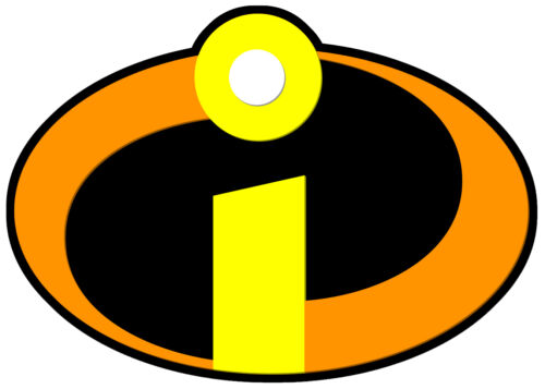 Dark THE INCREDIBLES LOGO iron on T-shirt Transfer A5 or A4 Large Light