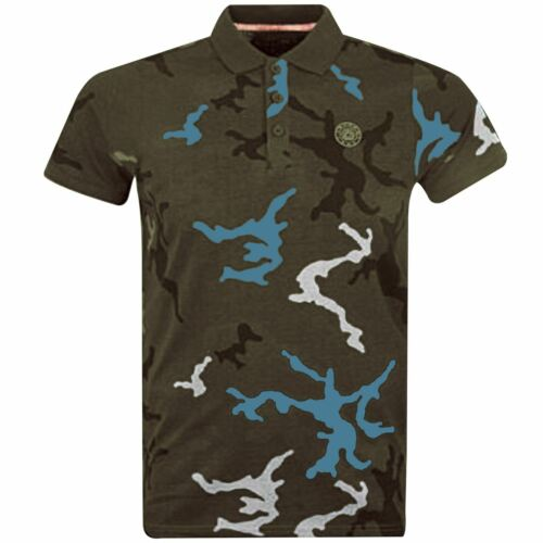 Mens Polo Shirt S/&J By Crosshatch Collared Cotton T Shirt Short Sleeve Top AW19