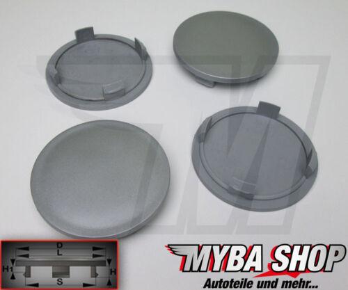 4x COPRIMOZZO COPERCHIO MOZZO 64 mm radnabende CERCHI coperchio piatto in grigio #neu #
