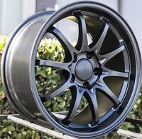 Varrstoen Es3 17X10 Rims 5X114.3mm +22 Black Wheels Fits 350z G35 240sx Rx8 Rx7
