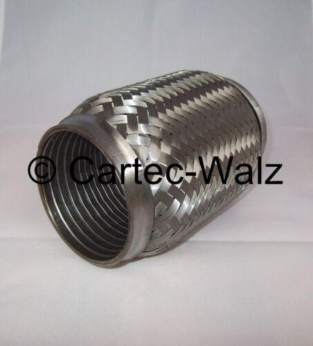 Gaine souple échappement raccords de canalisation avec intérieur wellrohr 76 x 150 mm Acier Inoxydable!