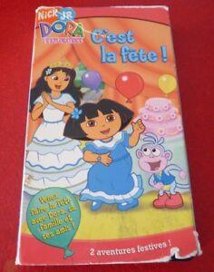 VHS-French-Movie-C-039-est-la-Fete-Dora-L-039-exploratrice