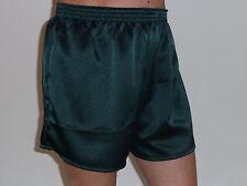 Bottle Green Poly Satin Boxer Shorts Medium