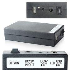 new Multi-function DC 5V/9V/12V 3 In 1 Rechargeable Li-ion Battery Pack Black