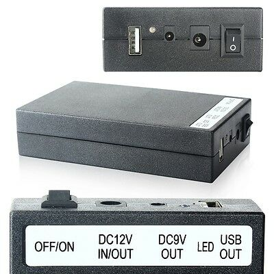 new Multi-function DC 5V/9V/12V 3 In 1 Rechargeable Li-ion Battery Pack Black