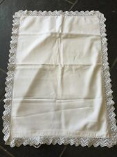 VINTAGE SINGLE PILLOWCASE CROCHET LACE EDGING
