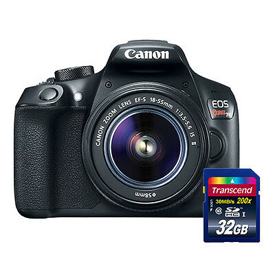 Canon EOS Rebel T6 1300D Digital SLR Camera with 18-55mm IS II Lens + 32gb Card