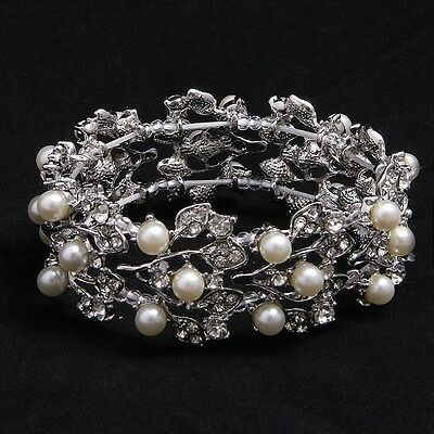 Rhodium and Pearl Bracelet