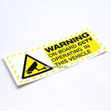 Advertencia a bordo Cctv 153x56mm Dashcam Seguridad Auto, Camioneta, ventana calcomanía adhesivo