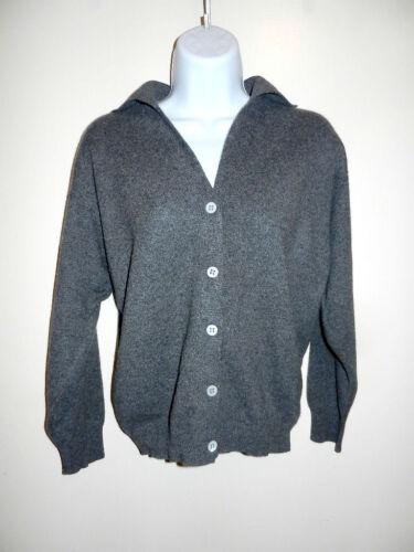 Sweater lags Nordstrom ærmer Collared Grå M V Cardigan 2 100 5 hals shmere 6 FxFvHO6