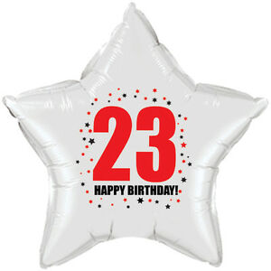 Image Is Loading 23RD BIRTHDAY STAR BALLOON 18 INCH MYLAR