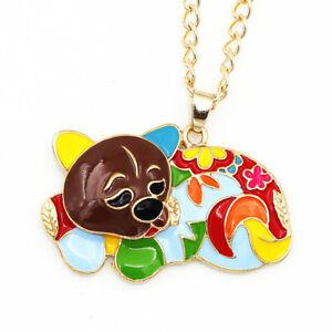 Betsey-Johnson-Colorful-Enamel-Cute-Dog-Pendant-Women-039-s-Necklace-Jewelry-Gift