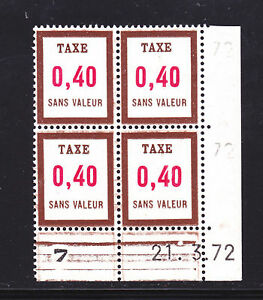 FRANCE-TIMBRE-FICTIF-TAXE-FT24-MNH-coin-date-21-3-72-TB