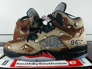 quality design 7dd30 5b150 Details about Nike Air Jordan 5 Supreme Camo With Receipt V Retro Bamboo  Camouflage 824371-201