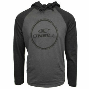 O-039-Neill-Men-039-s-Weddle-Light-Weight-Black-Grey-L-S-Pull-Over-Hoodie-Retail-50
