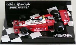 Wow extrêmement rare Wolf Wr1 Ford Keke Rosberg GP Hockenheim 1978 1:43 Minichamps 4012138070820