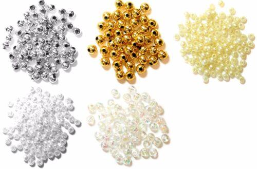 Fabrique artisanale perles billes de plastique bijoux couture choisir les couleurs tailles 7g Pack