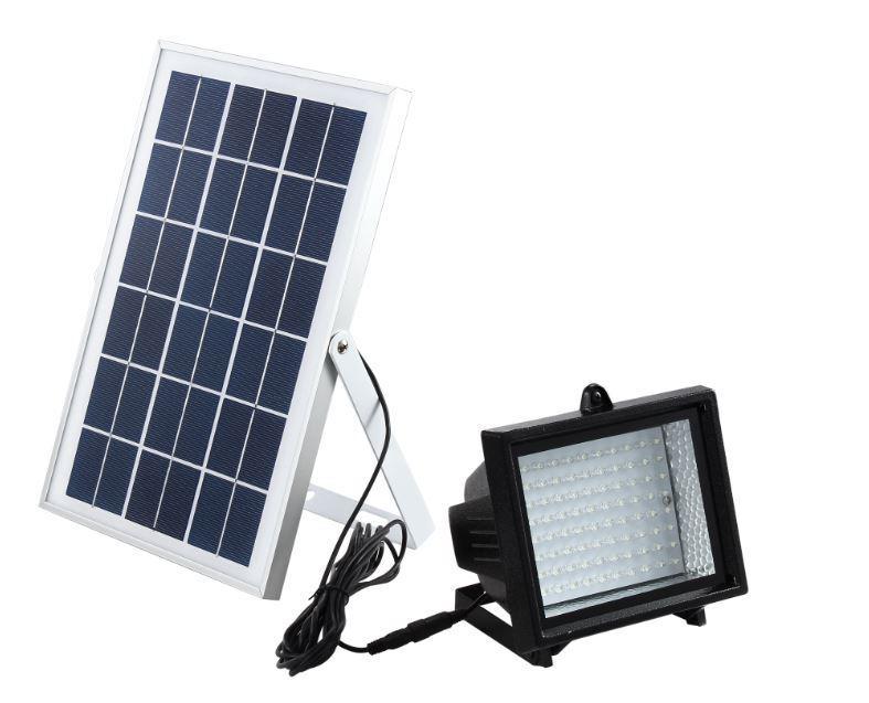 Bizlander 5W60LED Solar Luz de inundación de grado comercial Auto Plus Interruptor Manual IOU