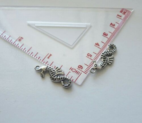 5x Seahorse Charms for Bracelet Pendant Necklace Earring Making Supplies Silver
