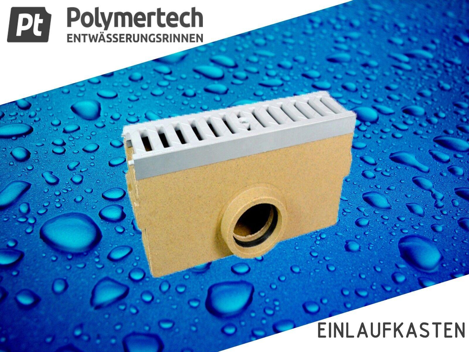 Polymerbeton Einlaufkasten inkl.Kunststoffrost kl. B125 bis 12,5 tonnen
