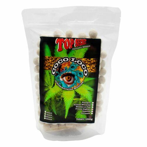 Top Secret Boilies Cannabis Edition Coco-Loco 1KG Karpfenköder Hanf 0,90€//100g