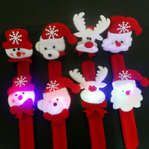 LED-Light-Glow-Christmas-Dazzling-Toy-Xmas-Slap-Circle-Bracelet-Wrist-Band-Int