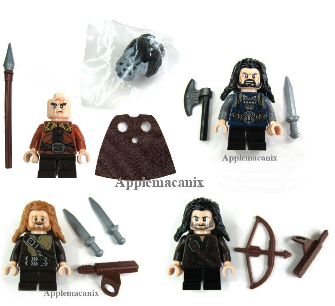 NW LEGO Hobbit  Thorin BIFUR Fili Kili minifigs nains Lot de 4 79001 79002 ORCS  économiser jusqu'à 50%