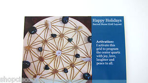 1-Crystal-Healing-Grid-Layout-Card-HAPPY-HOLIDAYS-4-034-x5-034-Cardstock-Tumbled-Stone