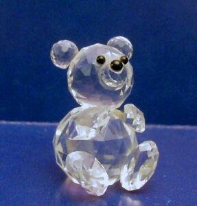 Swarovski-Crystal-TEDDY-BEAR-Figurine-OLD-BLOCK-MARK