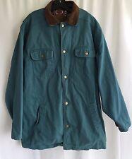 Woolrich Mens Coat Parka Jacket Teal Green Blue Sz Med Southwestern Lining Cordu