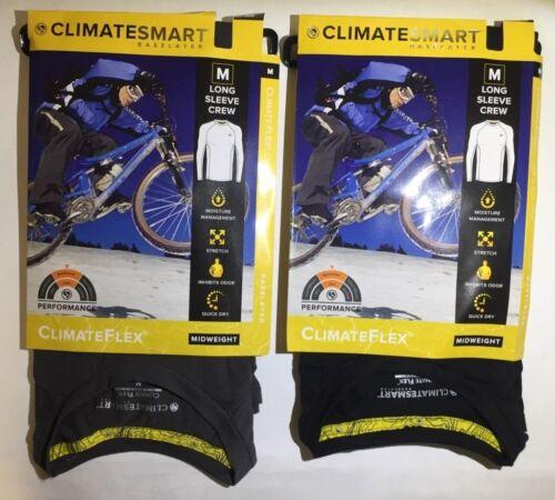 MEN/'S CLIMATESMART CLIMATEFLEX MIDWEIGHT BASE LAYER-LONG SLEEVE CREW $44 MSRP