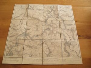 alte Landkarte Messtischblatt Sachsen Nr.76 Penig von 1912 auf Leinen