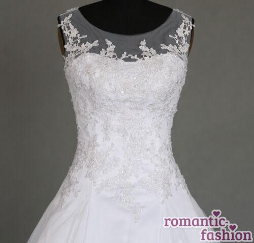 Hochzeitskleid Maßanfertigung alle Größen Weiß oder Creme+W064nM♥ ♥Brautkleid