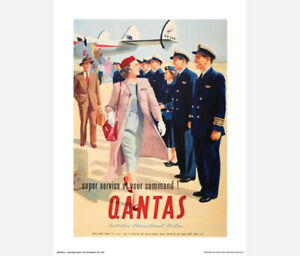 QANTAS-SUPER-SERVICE-POSTER-PRINT-ADVERTISEMENT-50-x-40-cm-20-034-x-16-034