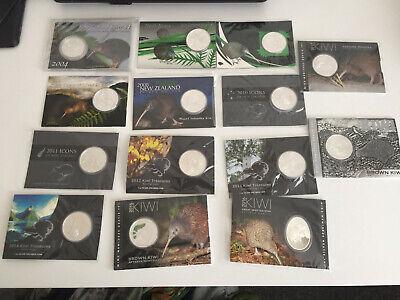 New Zealand Kiwi Coins Rare !!! 2010-1 OZ Silver Uncirculated Coin