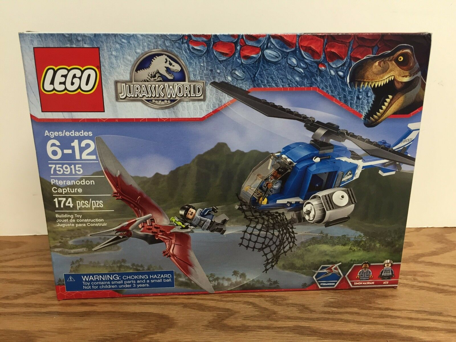 LEGO 75915 Pteranodon Capture JURASSIC WORLD (174 pieces) Factory Sealed Box