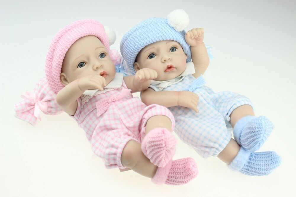 2 muñecos silicona juguete ( niña y niño ) 12 - 28cm  silicone real soft vinilo