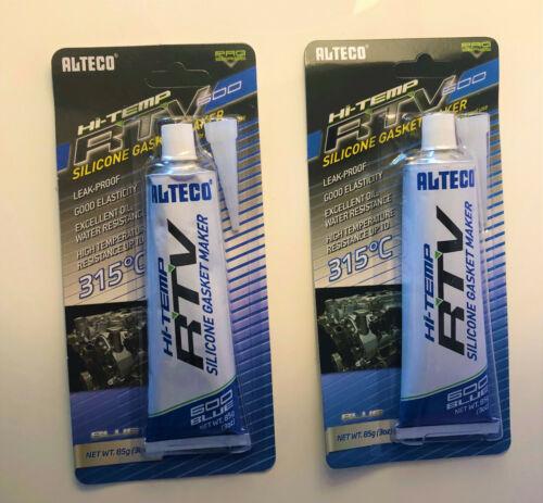 85g bis 315°C Blau 2 X Alteco Hi-Temp RTV Hochleistungs-Silikon Dichtmasse