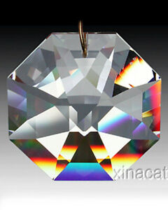 Strass-Swarovski-Huge-8115-60mm-Lily-Octagon-Crystal-Clear-Prism-Suncatcher-2-5-034