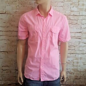up-to-datestyling best sell reliable quality Details about Union By Buckle Men's Short Sleeve Dress Shirt (Pink) Size XL