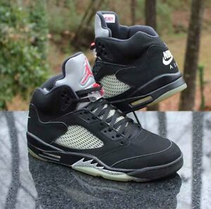 online retailer 0c41e e7d0b Image is loading Nike-Air-Jordan-5-Retro-OG-Black-Metallic-