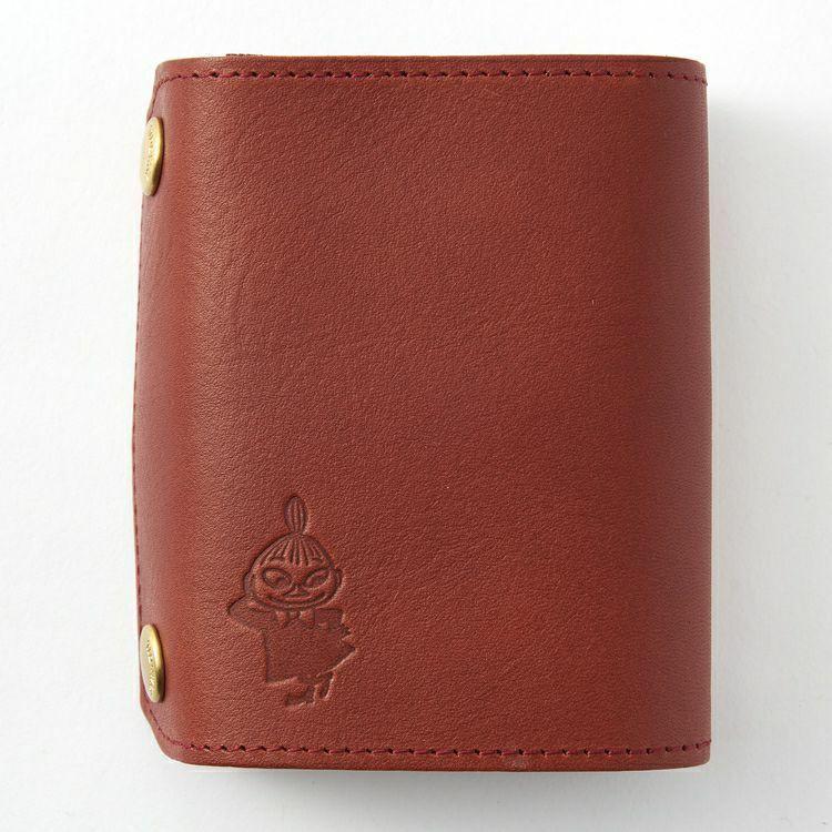 [Moomin] TIDEWAY BOOK WALLET (Little My) Cow leather MADE IN JAPAN
