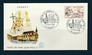 FRc-enveloppe-visite-de-sa-Saintete-Jean-Paul-II-74-Annecy-1986