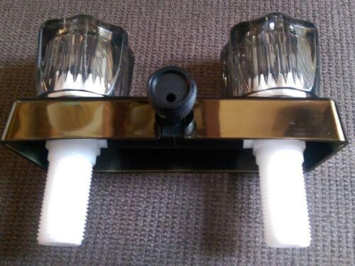 """*NEW* Empire Shower Valve Vacuum Breaker Diverter 2 Handled 4/"""" Antique Brass"""