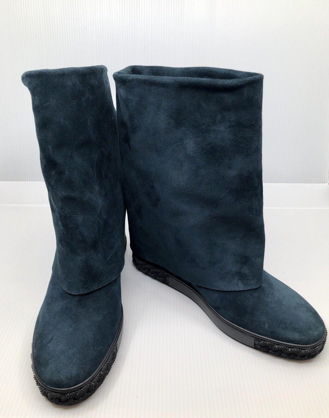 NEW Casadei Stivali women Green Fold Over Boots size UK 8
