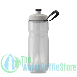 Polar 20 oz Breakaway Insulated Triple Wall Cycling Water Bottle Bolt White